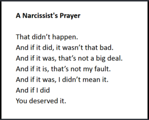 Narcissist's Prayer